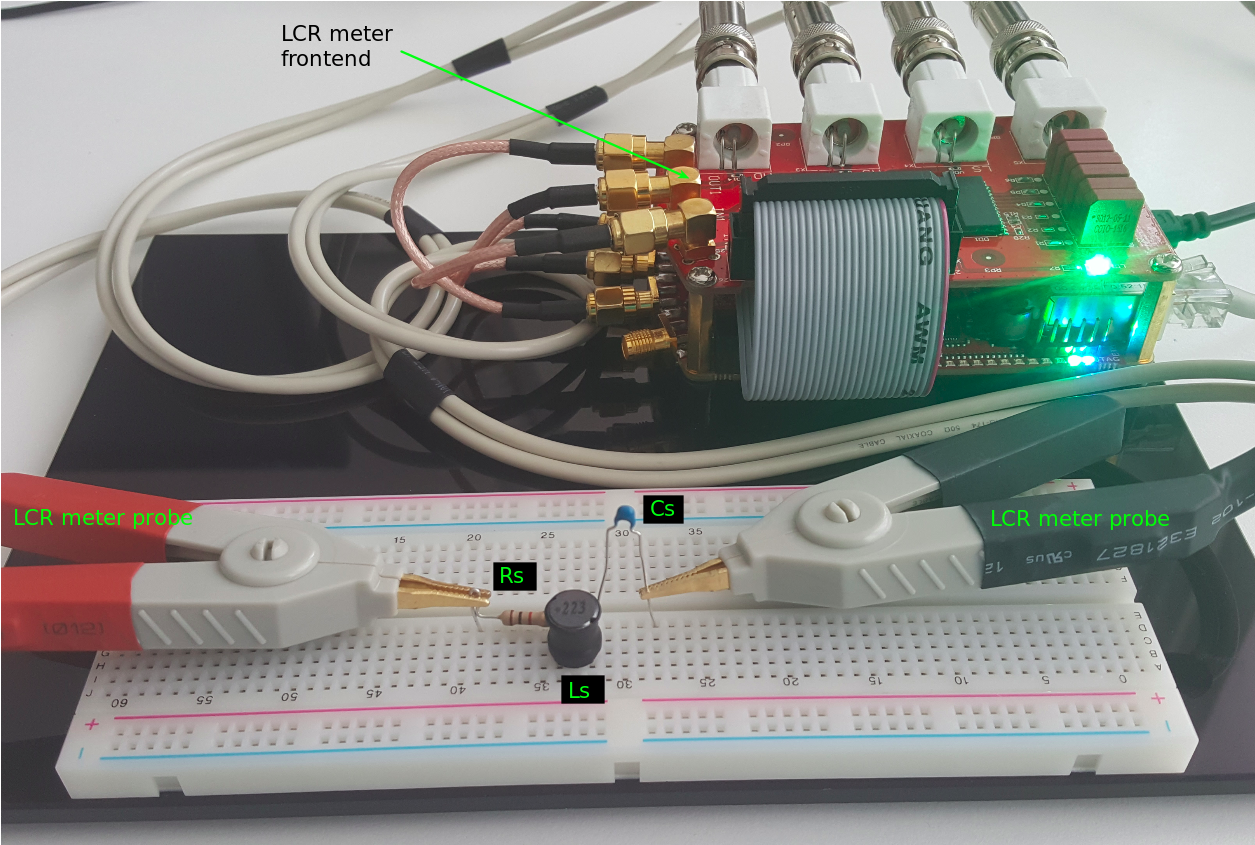 11 Impedance Measurement Frequency Effects Red Pitaya 10 Inductance Meter Circuit And Images Activity Fig 03 Figure 3 Stemlab With Lcr Frontend Series Rlc